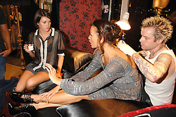Left to right, HOLLY DAVIDSON, ZARA BROCKLESBY and tattoo artist ADAM COLLINS at a party to celebrate the launch of Diesel's new mens & womens fragrances 'Fule for Life' at their newly reopened store on the Kings Road, London on 13th September 2007.<br /><br />NON EXCLUSIVE - WORLD RIGHTS