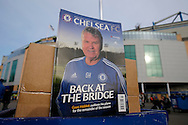 a view of the Official Chelsea Magazine featuring Guus Hiddink, the interim Chelsea manager on the front cover outside Stamford  Bridge before k/o. Barclays Premier league match, Chelsea v Everton at Stamford Bridge in London on Saturday 16th January 2016.<br /> pic by John Patrick Fletcher, Andrew Orchard sports photography.