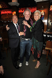 Left to right,  ARNOLD CROOK, SEAN MATHIAS and JEANNE MANDRY at 'Heavenly Ivy' a play to commemorate 20 years of The Ivy Restaurant, held at The Ivy, West Street, London on 8th November 2010.
