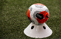 A disinfected match ball sits on a cone<br /> <br /> Photographer Alex Dodd/CameraSport<br /> <br /> The Premier League - Sheffield United v Chelsea - Saturday 11th July 2020 - Bramall Lane - Sheffield<br /> <br /> World Copyright © 2020 CameraSport. All rights reserved. 43 Linden Ave. Countesthorpe. Leicester. England. LE8 5PG - Tel: +44 (0) 116 277 4147 - admin@camerasport.com - www.camerasport.com