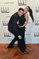 LILY ALLEN winner of the Elle UK Recording Artist Female Award and ROLAND MOURET at the 17th Elle Style Awards 2014 in association with Warehouse held at One Embankment, 8 Victoria Embankment, London on 18th February 2014.