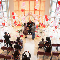 Probate Judge Charley Long Sr. marry Jenna Henry and Ty Spencer on Valentine's Day, Thursday, Feb. 14 in the rotunda of the McKinley County Courthouse.