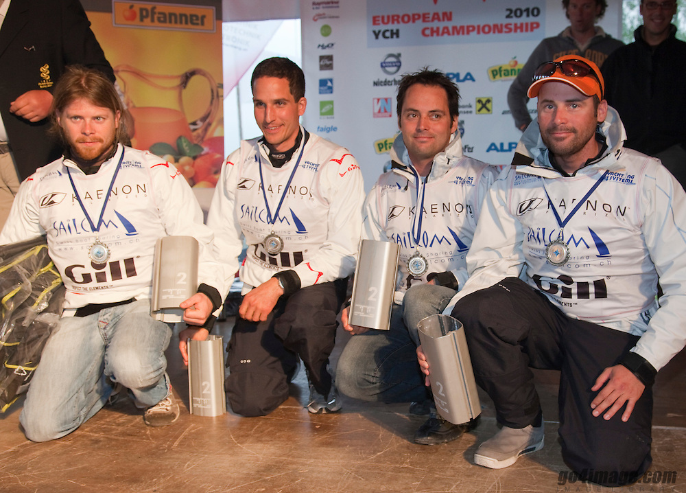 2nd SUI, Eric Monnin, Simon Brügger, Jean-Claude Monnin, Marc Monnin;<br /> Prizegiving<br /> 2010 EUROSAF European Match Race Championship