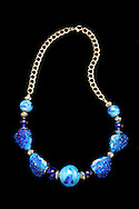 Hand-crafted Glass-beaded Necklace by Karen Moyer