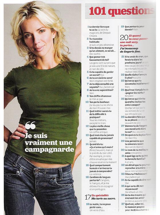 Editorial photography. Jacinthe René. La Semaine. 2007.