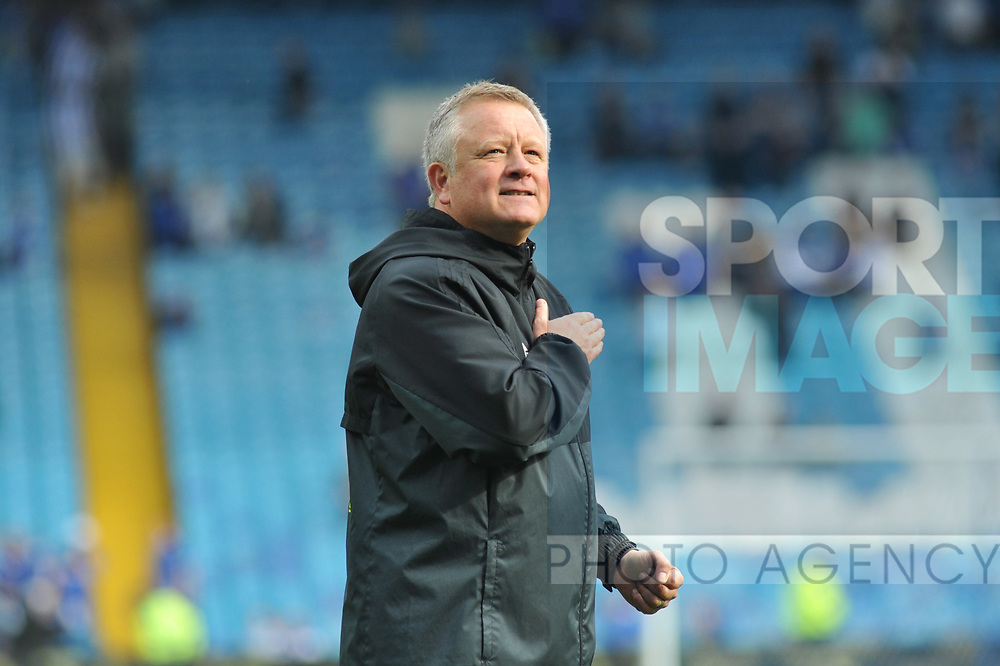 Chris Wilder manager of Sheffield Utd after the Championship League match at the Hillsborough Stadium, Sheffield. Picture date 24th September 2017. Picture credit should read: Joe Perch/Sportimage