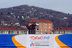 Torino`a houses at the 1st day of  European Athletics Indoor Championships Torino 2009 (6th - 8th March), at Oval Lingotto Stadium,  Torino, Italy, on March 6, 2009. (Photo by Vid Ponikvar / Sportida)