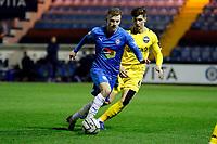 Elliot Newby. Stockport County FC 3-0 Eastleigh FC. Vanarama National League. Edgeley Park. 23.3.21