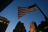 An American Flag viewed in New York City.