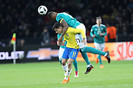 Philippe Coutinho (Brazil) and Jerome Boateng (Germany) during the International Friendly Game football match between Germany and Brazil on march 27, 2018 at Olympic stadium in Berlin, Germany - Photo Laurent Lairys / ProSportsImages / DPPI