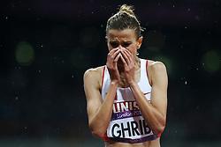 Olympics - London 2012 Olympic Games - 6/8/12.Athletics - Women'S 3000 steeplechase Final - .silver medal for Habiba Ghribi (TUN),.© pixathlon