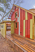Cowboy boot-shaped house<br /> <br /> This whimsical boot-shaped home may look like a quirky roadside stop, but it's actually a fully functioning home available for rent. Designed and built by Dan Phillips of Phoenix Commotion – a firm that specializes in building affordable homes using reclaimed materials – the unique 2 bedroom, 1 bath home comes with custom features, a nice yard, and even a stunning rooftop deck!<br /> ©Andrew Stewart/Exclusivepix Media