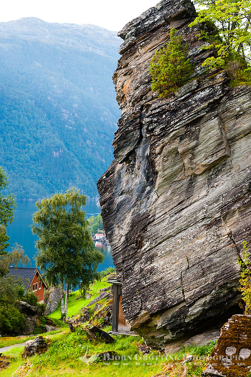 Norway, Fykse. Huge rock.