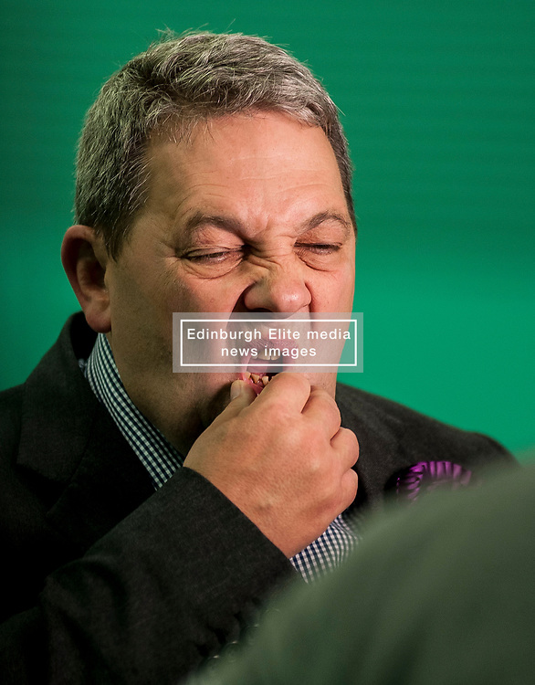 UKIP Scottish leader David Coburn at the Kirkcaldy & Cowdenbeath constituency count.<br /> © Dave Johnston/ EEm