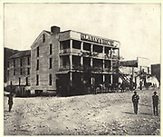 Alabama House the hotel at Stevenson, Alabama, during the Union advance that ended in Chicka- mauga. from the book ' The Civil war through the camera ' hundreds of vivid photographs actually taken in Civil war times, sixteen reproductions in color of famous war paintings. The new text history by Henry W. Elson. A. complete illustrated history of the Civil war
