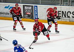 89# Luka Basic of Jesenice during ice hockey match between HK SIJ Acroni Jesenice and Asiago Hockey in Round #3 of Alps Hockey League 2018/19 , on September 22, 2018 in Podmezakla hall , Jesenice, Slovenia. Photo by Urban Meglic / Sportida