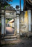 VAN HA, VIETNAM - CIRCA SEPTEMBER 2014: Temple at the Lang Gom Tho Ha village. The village belongs to the Van Ha commune, it is located 50km away from Hanoi in Northern Vietman