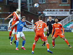 Sammie Szmodics of Peterborough United is challenged by Kenny Dougall of Blackpool - Mandatory by-line: Joe Dent/JMP - 21/11/2020 - FOOTBALL - Weston Homes Stadium - Peterborough, England - Peterborough United v Blackpool - Sky Bet League One