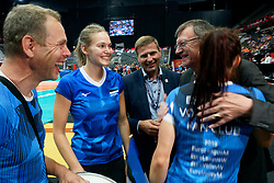 15-09-2019 NED: EC Volleyball 2019 Netherlands - Poland, Rotterdam<br /> First round group D - Poland win 3-0 / Estonia's die-hard fans receive invitation to EuroVolley final from CEV President Aleksandar Boricic