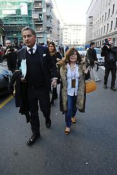Italy, Milan - February 16, 2017.Patrizia Reggiani at Milan's courthouse with her lawyer  Danilo Buongiorno..Patrizia Reggiani is famous for hiring a hit man to kill her ex-husband Maurizio Gucci in 1995 (Credit Image: © Maule/Fotogramma/Ropi via ZUMA Press)