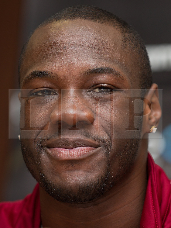 © Licensed to London News Pictures . 25/04/2013 . Sheffield , UK . DEONTAY WILDER . Final press conference in advance of Amir Khan vs Julio Diaz boxing bout , today (Thursday 25th April 2013) at the Mercure Hotel in Sheffield City Centre ahead of the fight on April 27th at the Motorpoint Arena in Sheffield . Photo credit : Joel Goodman/LNP