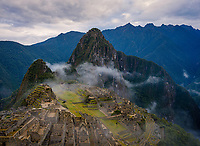 MACHU PICCHU, PERU - CIRCA SEPTEMBER 2019:  View of Machu Picchu in Peru.