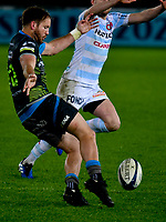 Rugby Union - 2019 / 2020 European Rugby Heineken Champions Cup - Pool Four: Ospreys vs. Racing 92<br /> <br />  Marty McKenzie of Ospreys kicks to clear, at the Liberty Stadium.<br /> <br /> COLORSPORT/WINSTON BYNORTH