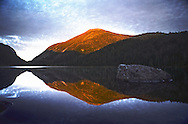 Adirondack High Peaks. Sunset on Lake Colden looking towards Avalanche Pass.