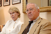 02 OCT 2006, BERLIN/GERMANY:<br /> William R. Timken jr., US-Botschafter in Deutschland, und seine ehefrau Sue, waehrend einem Interview in Timkens Buero, Botschaft der Vereinigten Staaten von Amerika <br /> William R. Timken jr., US-Ambassador in Germany, and his wife Sue, during an interview, in Timken´s office, Embassy of the United Staates of America in Berlin<br /> IMAGE: 20061002-01-007<br /> KEYWORDS: William Timken, Sue Timken