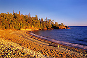 Lake Superior at sunset<br /> <br /> Pancake Bay Provincial Park<br /> Ontario<br /> Canada