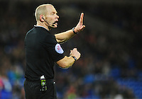 Referee Andy Woolmer in action during todays match  <br /> <br /> Photographer Kevin Barnes/CameraSport<br /> <br /> Football - The Football League Sky Bet Championship - Cardiff City v Blackburn Rovers - Saturday 2nd January 2016 - Cardiff City Stadium - Cardiff<br /> <br /> © CameraSport - 43 Linden Ave. Countesthorpe. Leicester. England. LE8 5PG - Tel: +44 (0) 116 277 4147 - admin@camerasport.com - www.camerasport.com