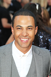 © Licensed to London News Pictures. 20/08/2013, UK. Marvin Humes, One Direction: This Is Us - World film premiere, Leicester Square, London UK, 20 August 2013<br />  Photo credit : Richard Goldschmidt/Piqtured/LNP