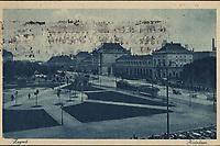 """Zagreb. : Kolodvor. <br /> <br /> ImpresumZagreb : """"Lela"""" [1929].<br /> Materijalni opis1 razglednica : tisak ; 9 x 14 cm.<br /> NakladnikNaklada """"Lela""""<br /> Mjesto izdavanjaZagreb<br /> Vrstavizualna građa<br /> ZbirkaZbirka razglednica • Grafička zbirka NSK<br /> Formatimage/jpeg<br /> PredmetZagreb –– Trg kralja Tomislava<br /> SignaturaRZG-TOM-33<br /> Obuhvat(vremenski)20. stoljeće<br /> NapomenaRazglednica je putovala 1929. godine.<br /> PravaJavno dobro<br /> Identifikatori000953637<br /> NBN.HRNBN: urn:nbn:hr:238:264086 <br /> <br /> Izvor: Digitalne zbirke Nacionalne i sveučilišne knjižnice u Zagrebu"""