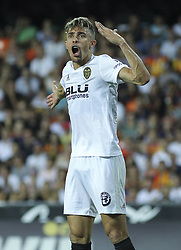 August 20, 2018 - Gabriel Paulista of Valencia and  in action during the spanish league, La Liga, football match between ValenciaCF and Atletico de Madrid on August 20, 2018 at Mestalla stadium in Valencia, Spain. (Credit Image: © AFP7 via ZUMA Wire)
