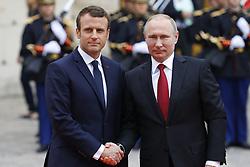 May 29, 2017 - Paris, France - Emmanuel Macron et Vladimir Poutine (Credit Image: © Panoramic via ZUMA Press)