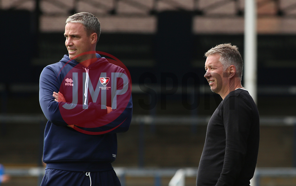 Peterborough United Manager Darren Ferguson with Cheltenham Town manager Michael Duff before kick-off - Mandatory by-line: Joe Dent/JMP - 05/09/2020 - FOOTBALL - Weston Homes Stadium - Peterborough, England - Peterborough United v Cheltenham Town - Carabao Cup