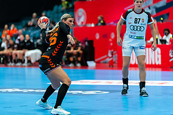 Angela Malestein of Netherlands in action during the Women's EHF Euro 2020 match between Netherlands and Hungry at Sydbank Arena on december 08, 2020 in Kolding, Denmark (Photo by RHF Agency/Ronald Hoogendoorn)