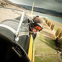 Tiger Moth over Northburn Station, Central Otago