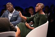 Chika Uwazie, Journalist, Quartz, Nigeria speaking during the session Africa's Innovators of the Year at the World Forum World Economic Forum on Africa 2019. Copyright by World Economic Forum / Greg Beadle