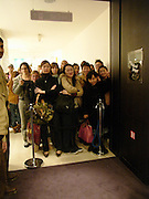 Queuing up to buy book, Tom Ford at Selfridges  to launch his book. 11 November 2004. ONE TIME USE ONLY - DO NOT ARCHIVE  © Copyright Photograph by Dafydd Jones 66 Stockwell Park Rd. London SW9 0DA Tel 020 7733 0108 www.dafjones.com