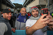 Todd Payten poses for a picture with fans. Vodafone Warriors v Manly Sea Eagles. NRL Rugby League, Central Coast Stadium, Gosford, NSW, Australia, Sunday 27th September 2020 Copyright Photo: David Neilson / www.photosport.nz