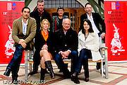 Le président du Jury - Eric-Emmanuel Schimtt et entouré des membres du jury compétition,Marie Gillain,la réalisatrice V.Cayla, Didier Long,Vincent Elbaz et Bruno Dumont