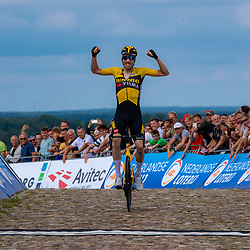 WIJSTER (NED) June 20: <br /> CYCLING <br /> Dutch Nationals Road Men up and around the Col du VAM<br /> Timo Roosen (Netherlands / Team Jumbo - Visma) is the new Dutch Elite champion