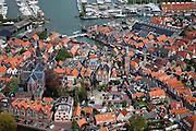 Nederland, Noord-Holland, Waterland, 28-04-2010; Monnickendam met haven en jachthaven..luchtfoto (toeslag), aerial photo (additional fee required).foto/photo Siebe Swart