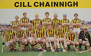 All Ireland Senior Hurling Championship Final, .06.09.1987, 09.06.1987, 6th September 1987, .Kilkenny v Galway, .Galway 1-12, Kilkenny 0-9,.06091987AISHCF, ..Senior Kilkenny v Galway,.Minor Tipperary v Offaly,..Kilkenny, Back row from left, Joe Hennessy, Christy Heffernan, Richard Power, Sean Fennelly, John Henderson, Liam McCarthy, Liam Walsh, Front row from left, Harry Ryan, Ger Fennily, Ger Henderson, Paddy Prendergast captain, Kieran Brennan, Pat Walsh, Lester Ryan, Kevin Fennelly, .