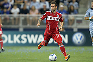 09 June 2011: Chicago's Daniel Paladini. Sporting Kansas City played the Chicago Fire to a 0-0 tie in the inaugural game at LIVESTRONG Sporting Park in Kansas City, Kansas in a 2011 regular season Major League Soccer game.