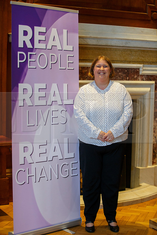 """© Licensed to London News Pictures. 08/08/2016. London, UK. UKIP leadership contender LISA DUFFY gives a speech to set out her """"Positive Vision for British Islam"""" at County Hall in London on Monday, 8 August 2016. Cllr Duffy said she supports the ideas of banning face veils and burqas from the public places in the UK. Photo credit: Tolga Akmen/LNP"""
