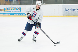 Miha Stebih during practice session of Slovenian Ice Hockey National Team for IIHF World Championship in Sweden and Finland, on March 28, 2013, in Arena Zlato Polje, Kranj, Slovenia. (Photo by Vid Ponikvar / Sportida.com)
