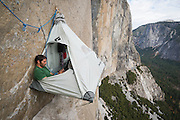 Kevin Jorgeson chilling at basecamp on El Capitan's Dawn Wall in November of 2013. Over a year later he and partner Tommy Caldwell completed the 3000' route in Yosemite Valley during an epic nineteen day push. The route is regarded by many as being the hardest rock climb in the world.