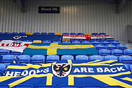 Banners at Plough Lane during the EFL Sky Bet League 1 match between AFC Wimbledon and Sunderland at Plough Lane, London, United Kingdom on 16 January 2021.